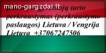 Transporto Paslaugos Meno kūriniams gabenti Lietuva – Vengri